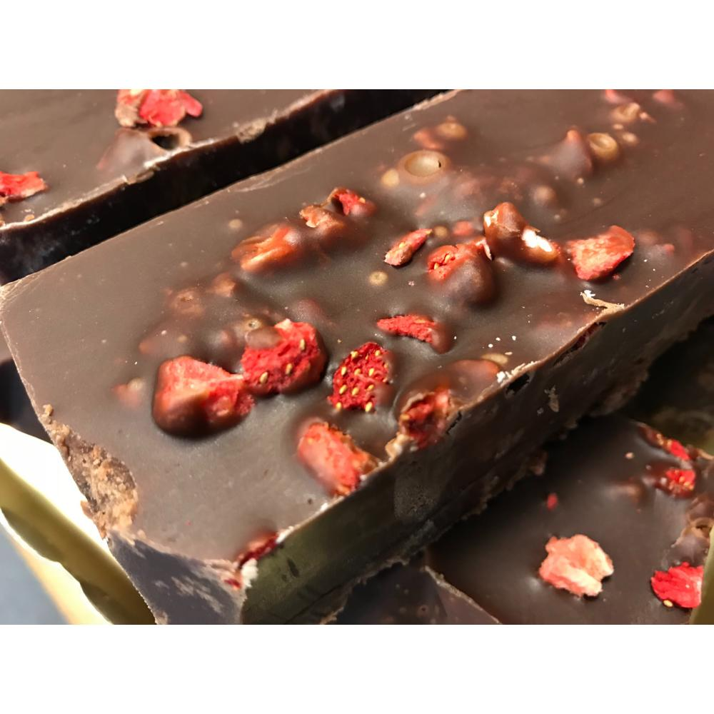 Chocolate Strawberry Fudge